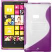 Fosmon - Nokia Lumia 920 4G PC Hard (TPU) Skin Case Cover with kickstand - Purple - Purple