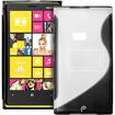Fosmon - Nokia Lumia 920 4G PC Hard (TPU) Skin Case Cover with kickstand - Black - Black
