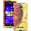Fosmon - Elegant Swirl Design Rubberized Hard Back Case Cover for HTC Windows Phone 8X 4G