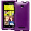 Fosmon - Rubberized Hard Plastic Case Back Cover for HTC Windows Phone 8X 4G - Purple - Purple