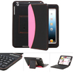GreatShield - Wireless Bluetooth Keyboard Leather Case Cover for Apple iPad mini - Black, Pink