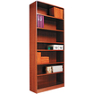 Alera - Radius Corner Bookcase - Medium Oak