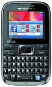 Motorola - MOTOKEY 3-CHIP Cell Phone (Unlocked) - Black/Brown