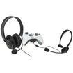 eForCity - Headset With Microphone Headphone Bundle for Xbox 360 Controller - Black - Black