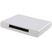 AGPtek - Wireless Bluetooth A2DP Music Audio Receiver Adapter for iPhone 4 4s 5 iPod Touch 30 pin Dock - White - White
