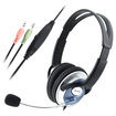 eForCity - Headphone Headset Microphone Bundle for Computer Laptop PC - White - White