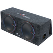Audiopipe - NEW APVB120BET DUAL 12 1500W CAR AUDIO SUBWOOFER SUB W/ PORTED BOX - Gray