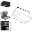 eForCity - Crystal Case and Game Card Skin Case and LCD Guard Bundle for Nintendo 3DS XL