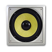 Acoustic Audio - HDS10 300 Watt 10 Inch In-Wall/Ceiling Home Theater Subwoofer - White
