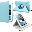 Fosmon - 360 Revolving Leather Case for Samsung Galaxy Tab 2 7.0 - Sky Blue