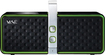 Hercules - Bluetooth Speaker for Most MP3 Players and Audio Devices - Black/Green - Black/Green