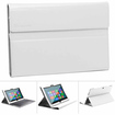 GreatShield - High Quality Leather Folio Case with Keyboard Cover for Microsoft Surface Windows RT - White