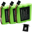 Accessory Genie - 3 PACK Uniden BT-909 BT909 Cordless Phone Battery f/DCT736 TRU9280 WXI477 WXI377 KXTC1210 + Acc. Bag
