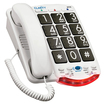 Ameriphone - Amplified Corded Phone with Talk Back Numbers - White - White