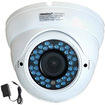 VideoSecu - Dome Outdoor Infrared Day Night Vision Security Camera with 1/3 Sony CCD 1ZH - White - White