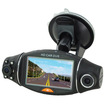 AGPtek - 2.7 LCD Lens Camera AVI Video Recorder Car DVR Dual Lens 270 Degree Rotation GPS Gsensor - Black