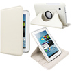 Fosmon - 360 Revolving Leather Case for Samsung Galaxy Tab 2 7.0 - White