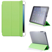 DrHotDeal - PU Magnetic Smart Case Cover with Matte Secure Lock Design PC Back Shell Bundle for iPad Mini - Green