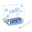 Enhance - 4 Port USB 2.0 Desk Hub Glowing Memo Alarm Clock with Temperature Sensor for Tablets & Smartphones