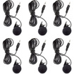 Aleratec - 3.5 mm Computer Clip on Mini Microphone 6-Pack