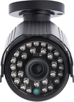 Lorex - High Resolution Weatherproof Night Vision Security Camera - Black