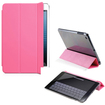 DrHotDeal - PU Smart Magnetic Cover PC Back Shell Cover Case Bundle for iPad Mini - Crystal Clear, Pink