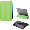 DrHotDeal - PU Smart Magnetic Cover PC Back Shell Cover Case Bundle for iPad Mini - Crystal Clear, Green