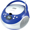 Naxa - Electronics NPB-251BU Portable CD Player with AM / FM Stereo Radio - Blue - Blue