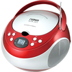 Naxa - Portable CD Player with AM/FM Stereo Radio - Red - Red