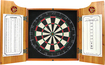 Trademark Games - Anheuser Busch A & Eagle Dart Cabinet Set - Brown