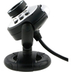 Fosmon - Round Webcam with Microphone and LED light for Night Vision - Black - Black