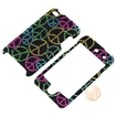 eForCity - Snap-On Case for iPod Touch 4th Generation - Black Rainbow Peace Sign Bling - Black Rainbow Peace Sign Bling
