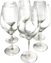 Epicureanist - Illuminati Red Wine Glasses (6-Pack) - Clear