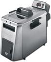 DeLonghi - 4-Liter Dual Zone Deep Fryer - Black/Silver