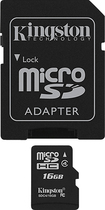 Kingston - 16GB microSDHC Class 4 Memory Card - Black