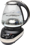 Capresso - teaC100 48-Oz. Water Kettle - Stainless-Steel/Black