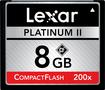 Lexar - Platinum II 8GB CF Memory Card