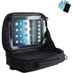 USA Gear - Universal Car Headrest Viewing Case & Travel Bag for Tablets, Portable DVD Players & More - Black