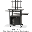 Balt - Height Adjustable Flat Panel TV Cart - Black