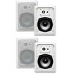Acoustic Audio - Acoustic Audio CS-IW520 In Wall Speaker 2 Pair Pack 2 Way Home 800W CS-IW520-2Pr - White