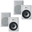 """Acoustic Audio - Acoustic Audio CS-IW820 In Wall 8"""" Speakers 2 Pair Pack 2Way 1200W CS-IW820-2Pr - White"""
