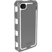 Wireless Xcessories - Hard Case Rugged Shell and Holster Combo for Apple® iPhone® 4 / 4S - Gray, White