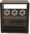Gator Cases - 4-Space Studio and Home Theater Rack Cabinet - Black Oak