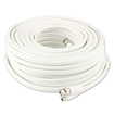 Swann - Advanced-Series 100' BNC-to-BNC/BNC-to-DC Coaxial Video and Power Cable - White