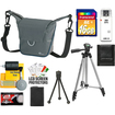 Lowepro - Compact ILC Courier 80 Lens Camera Case with NP-FW50 Battery + 16GB SD Card + Tripod + Acc Kit
