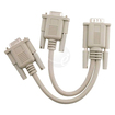 eForCity - For VGA GOLD PLATED 1 Male to 2 Female Video Cable Splitter - Beige - Beige