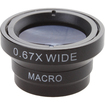 Agptek - 2 in 1 Wide Angle Macro Lens 0.67x Magnification for Apple iPhone 3G 4G 4s - Black