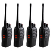 AGPtek - 4pcs Two Pair Two Way Portable Radio Walkie Talkie With Battery Charger - Black - Black