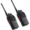 AGPtek - 2 Pack Two Way Portable Radios Walkie Talkie with Battery - Black - Black