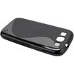 Fosmon - S-Shape Flexible TPU Gel Case for the Samsung Galaxy S III S3 - Black - Black